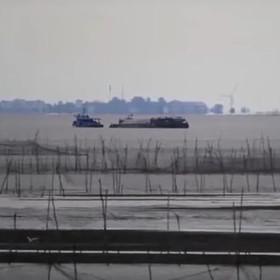 """Przerażające """"miasto duchów"""" na chińskim jeziorze"""
