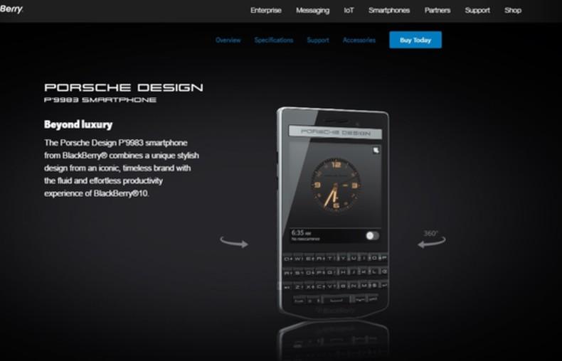 BlackBerry Porsche Design P'9983 Graphite