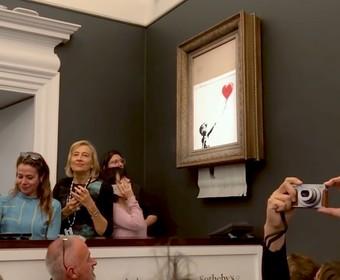 Obraz Banksy'ego uległ samozniszczeniu