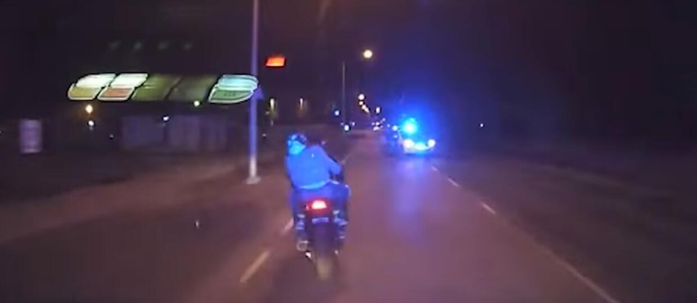Brutalne zatrzymanie motocyklisty pędzącego 200km/h