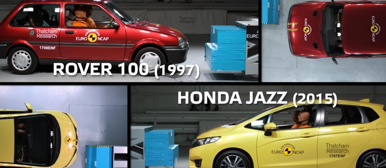 Crash test 20-letniego i współczesnego hatchbacka