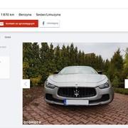 Na sprzedaż Maserati Ghibli po ostrzale