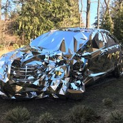 Lustrzany Mercedes S500 prosto z Filadelfii