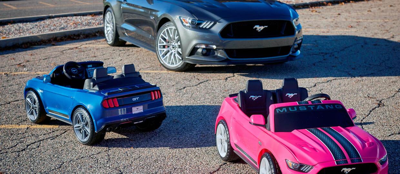 Miniaturowy Mustang z systemami bezpieczeństwa