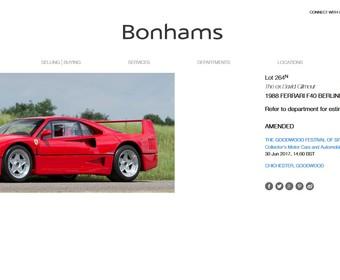 Na sprzedaż Ferrari F40 od gitarzysty Pink Floyd