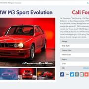 Na sprzedaż wyjątkowe BMW e30 M3 Sport Evolution
