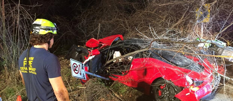 Pijany kierowca doszczętnie zniszczył Ferrari 458