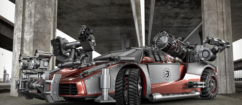 Postapokaliptyczne wizje luksusowych aut