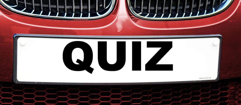 QUIZ: Skąd pochodzi tablica rejestracyjna?