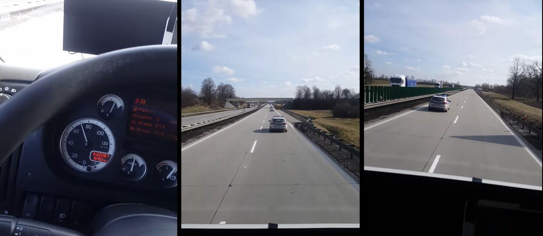 """Radiowóz jadący 70 km/h na A4, czyli """"postrach"""" ciężarówek"""