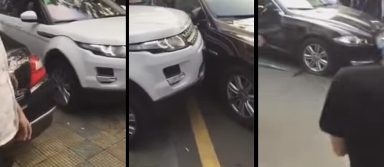 Staranował auto blokujące wyjazd z parkingu