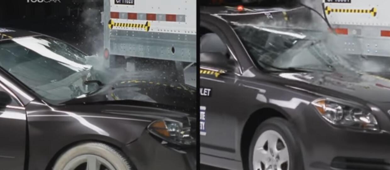 Testy zderzeniowe aut osobowych z różnymi typami naczep