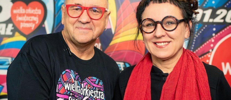 WOŚP 2020: Jerzy Owsiak i Olga Tokarczuk
