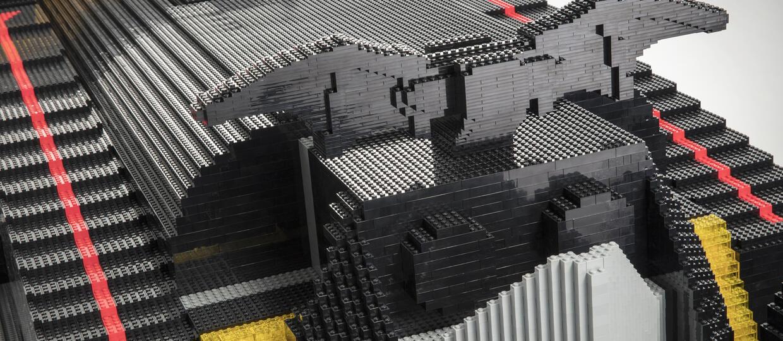 Batmobil z klocków Lego w skali 1:1