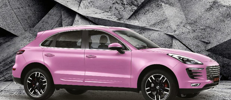 Chiński klon Porsche Macana w różowej edycji