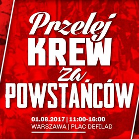 Przelej krew za Powstańców. Akcja oddawania krwi z okazji 73. rocznicy wybuchu Powstania Warszawskiego