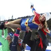 Amerykańska reprezentacja narciarska występuje w kostiumach Kapitana Ameryki i Captain Marvel