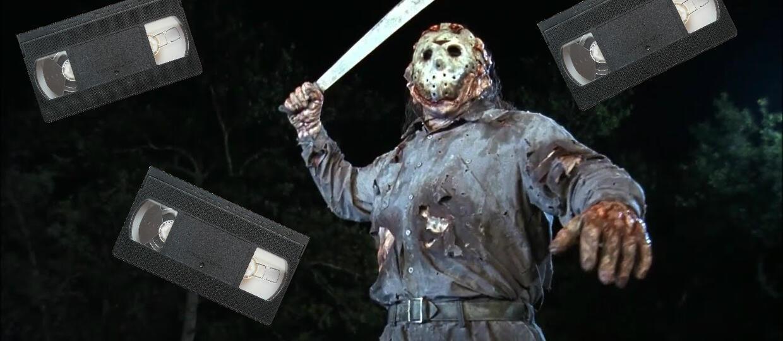 Bohaterowie horrorów z głowami z kaset VHS