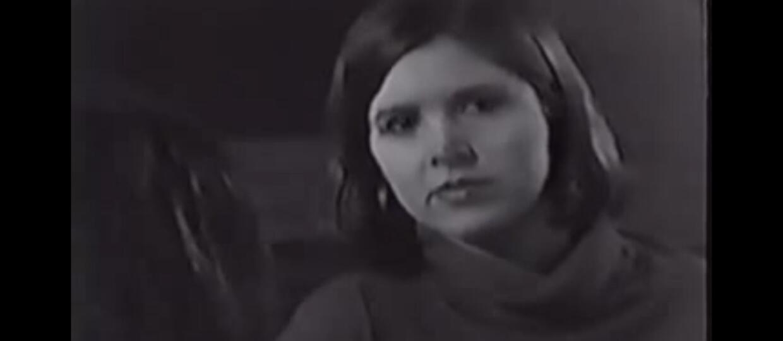 Carrie Fisher na przesłuchaniu do roli Lei