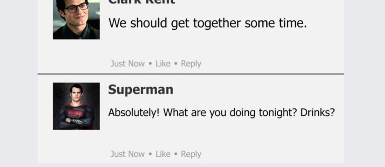 Co gdyby bohaterowie DC mieli Facebooka?