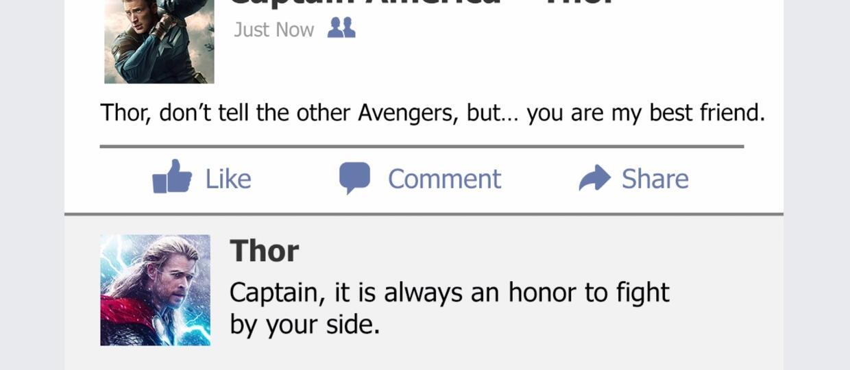 Co gdyby bohaterowie Marvela mieli Facebooka?