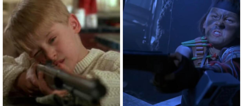 kadry z filmów Kevin sam w domu i Dial Code Santa Claus