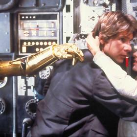 Han solo, księżniczka Leia i C-3PO