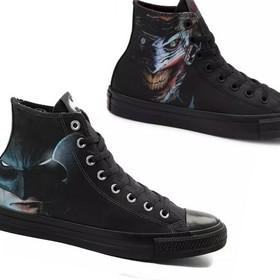 trampki Converse z Batmanem i Jokerem