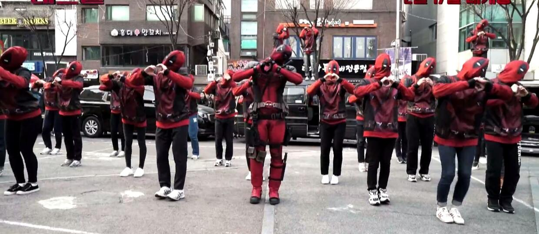 Deadpool tańczy na ulicach Korei