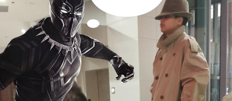 """Dwójka dzieci chciała wejść na pokaz """"Black Panther"""" przebrana za dorosłego w płaszczu. Akcja jak z bajki"""