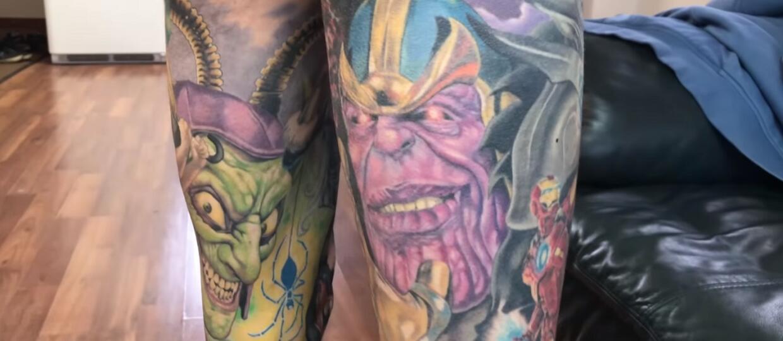 rekord Guinessa tatuaże Marvela