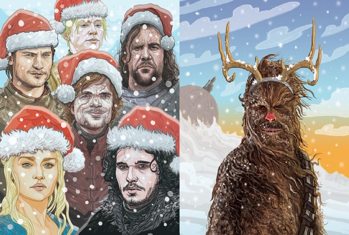 Filmowe i serialowe kartki świąteczne