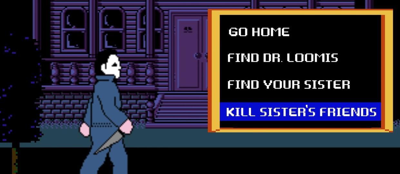 """""""Halloween"""" jako 8-bitowa gra"""