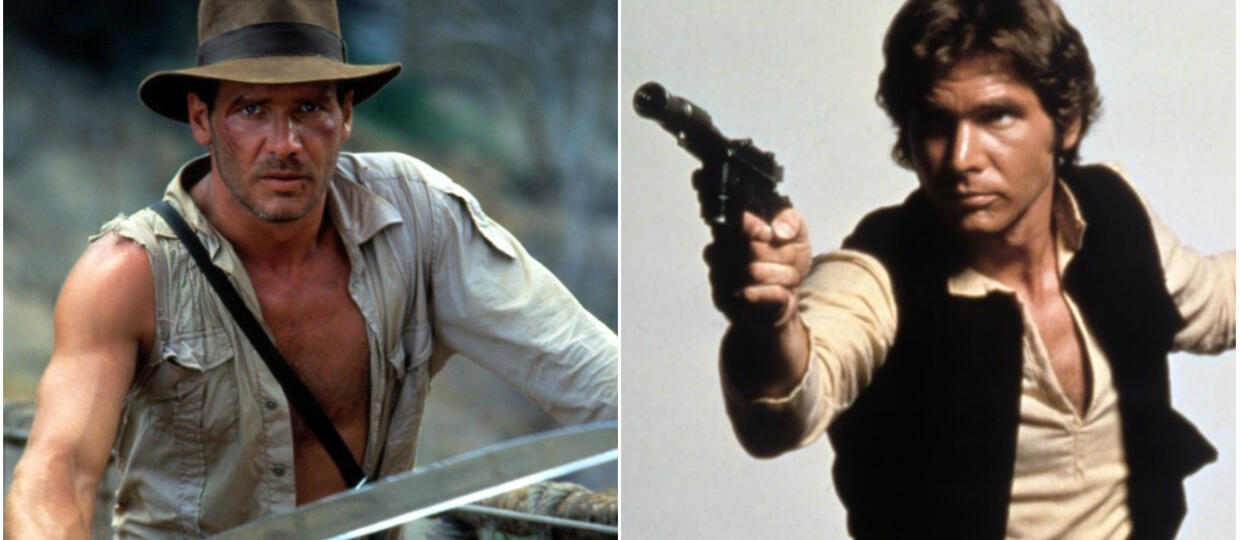 Harrison Ford jako Indiana Jones i Han Solo