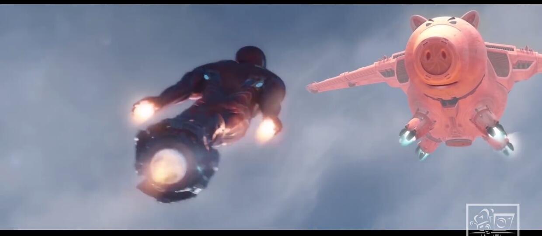 """Buzz Astral jako Thanos i Iron Man kontra Latający Prosiak w parodii zwiastuna """"Avengers: Infinity War"""""""