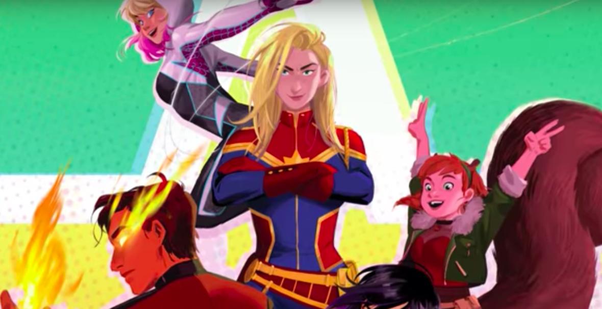 """Jak będzie wyglądał nowy film animowany Disneya? Zobacz zapowiedź serii """"Marvel Rising"""""""