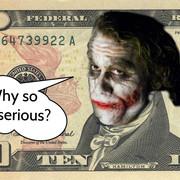 Joker ukryty na dziesięciodolarówce?