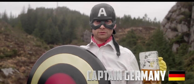 Kapitan Europa, czyli parodia Kapitana Ameryki