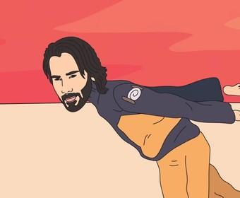 """Keanu Reeves biegnie jak Naruto do Strefy 51 w memicznym klipie do """"Old Town Road"""""""