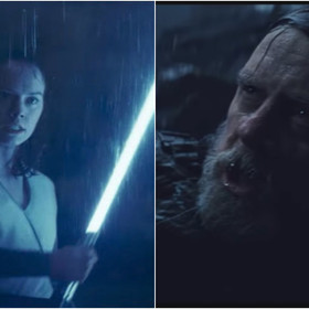 Rey i Luke Skywalker