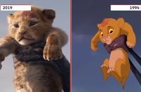 Król Lew porównanie scen