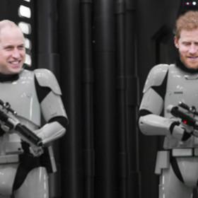 """Książęta Harry i William zagrali szturmowców w filmie """"Gwiezdne Wojny: Ostatni Jedi"""""""
