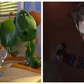 kadry z filmów Toy Story i Laleczka