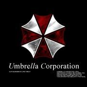 """Logo korporacji z """"Resident Evil"""" znakiem kliniki dermatologicznej"""