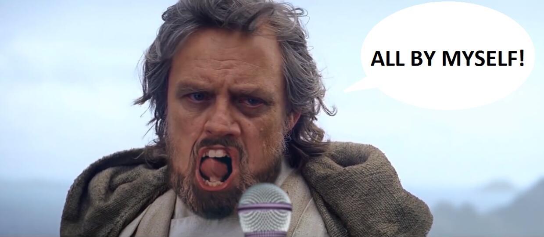 Luke Skywalker zaśpiewał przebój Celine Dion