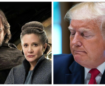 Mark Hamill, Carrie Fisher, Donald Trump
