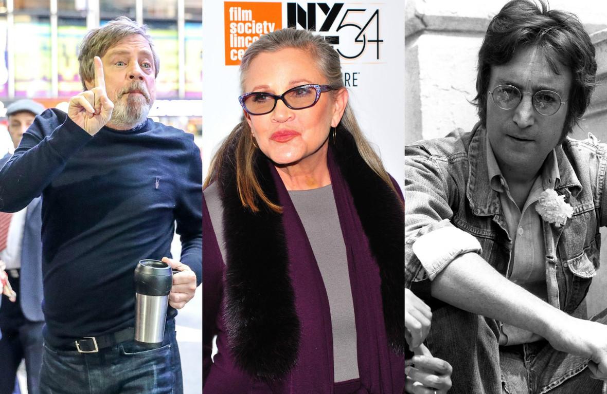 The Beatles Polska: Filmowy Luke Skywalker wspominając Carrie Fisher nawiązał do śmierci Beatlesa