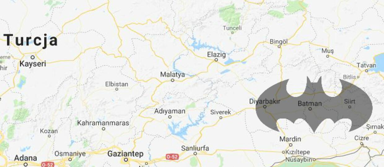 Mieszkańcy tureckiej prowincji Batman chcą zmiany kształtu jej granic. Ma przypominać... nietoperza