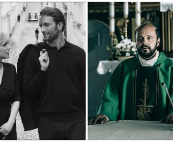 kadry z filmów Zimna wojna i Kler