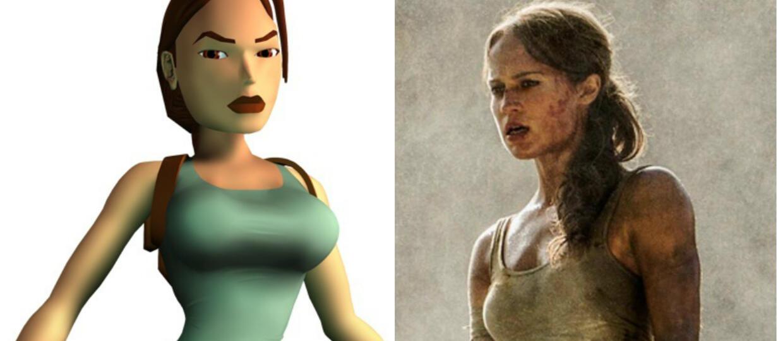Lara Croft z Tomb Raider 3 i Alicia Vikander